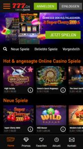Casino777 Gutscheincode für Mobile App